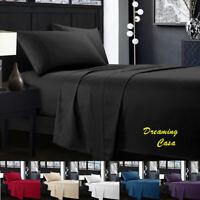 QUEEN SHEET SET 1800 Count 4 Piece Deep Pocket Bed Sheet Set king Size sheets R7
