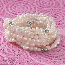 SILPADA Bracelets B1601 GODDESS 7 Fresh Water Pearl Sterling Silver Stretch
