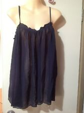 Gorgeous Witchery Babydoll  Pure Silk Slip On Top Size 10 - 12