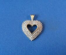 10K Yellow Gold Diamond Heart Shape Pendant - 1/4 Carat TDW
