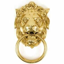 From the Anvil Lion's Head Door Knocker - Polished Brass 33020