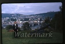 1964 kodachrome photo slide Boy with camera  Gaspe Quebec Canada