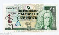 Royal Bank of Scotland Alexander Graham Bell Commemorative £1 Banknote