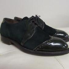 Fab Mens Vtg 40s 50s Footjoy spectator emerald green golf shoes Rare 8.5 D L@K