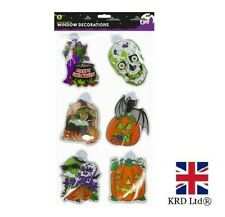 Halloween LARGE SUCTION CUP WINDOW STICKERS Decoration Party Decals GMHAL0922 UK