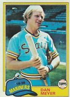 FREE SHIPPING-NRMINT-1981 Topps #143 Dan Meyer Seattle Mariners Baseball Card
