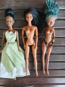 African American Barbie Doll LOT Brandi Celebrity, Uma Disney Descendants, Princ