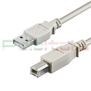 Cavo 1,8m USB 2.0 tipo A/B per stampante Epson Hp scanner fax dati pc hard disk