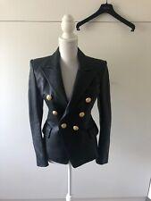 Balmain Leather Jacket Size 38 Black