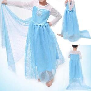 NEW FROZEN DRESS ELSA ANNA PRINCESS DRESS KIDS COSTUME PARTY FANCY SNOW QUEEN