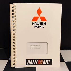 1989 1000 LAKES RALLY FINLAND WRC MITSUBISHI RALLIART TEAM SCHEDULE BOOK GALLANT
