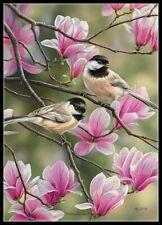 Springtime Chickadee - Diy Chart Counted Cross Stitch Patterns Needlework Dmc