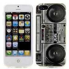 Apple iPhone 5 5S TPU Silikon Case Schutz Hülle Etui Bumper Coque Schale Blaster