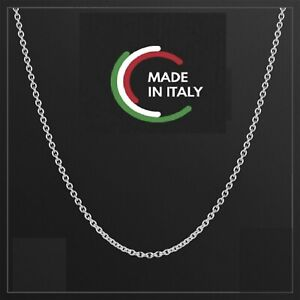 """CHAIN MADE IN ITALY 925 STERLING SILVER NEW NECKLACE ROLO - BELCHER 16""""-24"""""""