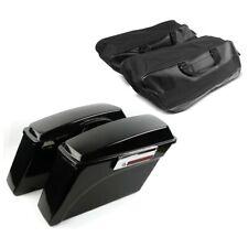 Borse Rigide Laterali per Harley Road King Custom 05-07 con Borse interne nero