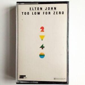 Elton John - Too Low For Zero (Audio Cassette, 1983 Rocket) Chromium Dioxide