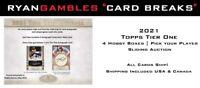 2021 Topps Tier One Baseball Break | 4 Hobby Box | PYP | Sliding Auction