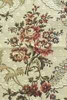 """French Antique c1920 Cotton Jacquard Floral Tapestry Sample Fabric~L-19"""" X W-12"""""""