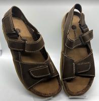 EARTH SHOE Women's Sandals Size 9 Terrain 4 Leather Hook Loop Adjustable NICE!