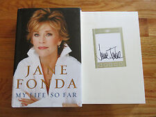 "JANE FONDA signed ""MY LIFE SO FAR"" 2005 1st Edition Book BP BARBARELLA KLUTE"