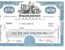 1969  Howard Johnson Stock Certificate  11 Shares  NICE !