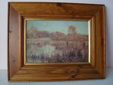Pond Life Mounted Picture in Wooden Frame