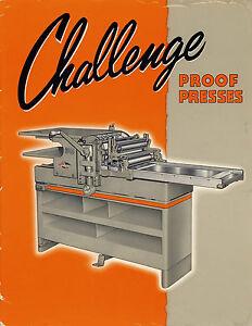 Challenge 1418E PRINTING PRESS BROCHURE PDF