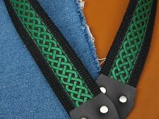 EMERALD ISLE Celtic Cotton USA made TROPHY A & F style Mandolin Strap