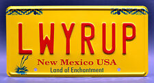 Breaking Bad / Better Call Saul Goodman / LWYRUP *STAMPED* Prop License Plate