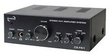 AMPLIFICATEUR AMPLI AUDIO 2 X 25W  MAX 3 ENTREES RCA SOURCES + 1 SORTIE REC