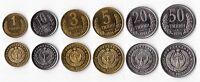 UZBEKISTAN - 6 DIF UNC COINS SET: 1 - 50 TYIN 1994 YEAR