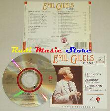 CD EMIL GILES Piano SCARLATTI 7 sonate DEBUSSY SCHUMANN 13 ERMITAGE lp mc dvd