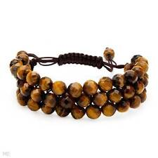 STUNNING THREE ROW TIGERS EYE BRACELET