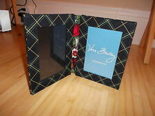 """Vera Bradley Frame - Quilted Floral Bi-Fold Double 6"""" X 4"""" Standing Frame NEW"""