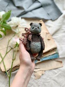 Teddy Handmade Interior Toy Collectable Gift Animal OOAK Bear Panda Doll Decor