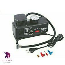 Compressore aria ad compressa per auto 12V casa canotto bici moto ruote ac/dc