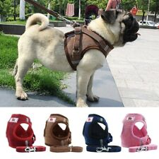 Dog Cat Harness with Leash Adjustable Walking Breathable Pet Puppy Vest Warm Dog