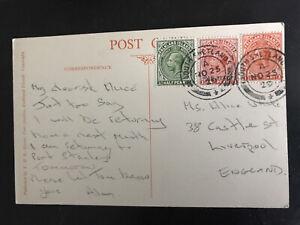 falkland islands postcard 1929 Postmarked South Shetlands to Liverpool superb