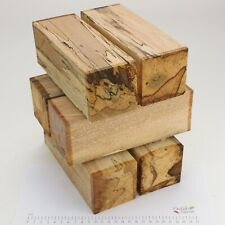 6 Punky Spalted Beech wood turning spindle blanks. 73 x 73 x 205mm. 5194A