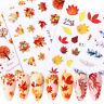 Wasser Nagel Aufkleber Transfer Abziehbilder Herbst Ahornblatt Nail Water Decals