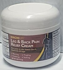 MAGNILIFE Homeopathic Leg & Back Pain Relief Cream 4 oz