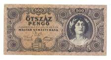 1945 Hungary Soviet Occupation 500 Pengo Banknote