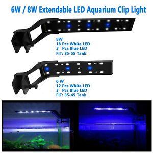 LED Aquarium Lights 6W 8W Fresh Plant Grow Light LED Fish Nano Tanks Clip On