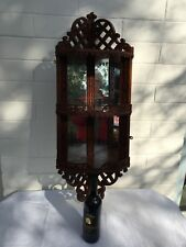 Beautiful, Unusual, Antique Victorian Mahogany Corner Wall Display Stand!