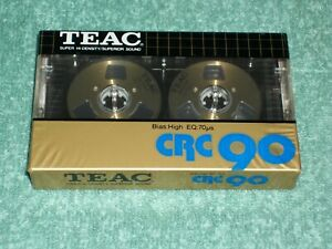 BRAND NEW TEAC CRC 90 HIGH BIAS BLANK RECORDING CASSETTE TAPE GOLD REELS JAPAN