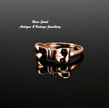 9CT ROSE GOLD RING LOVELY BOW DESIGN GREAT QUALITY