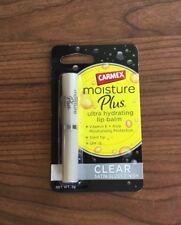 2 x Carmex Moisture Plus Ultra Hydrating Lip Balm 2g - CLEAR Satin Gloss Finish