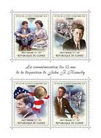 Guinea JFK Stamps 2018 MNH John F Kennedy Famous People US Presidents 4v M/S