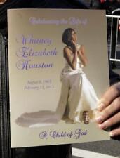Whitney Houston Funeral Celebration Of Life Program  New Jersey Plus Free Gift