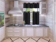 1 Set Silky Insulated Foam Lined Blackout Kitchen Treatment Window Curtain K9